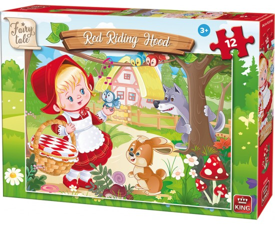 Παζλ 12 τμχ. Fairy Tale Red Riding Hood (55922)